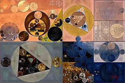 Abstract Painting - Dorado Poster by Vitaliy Gladkiy