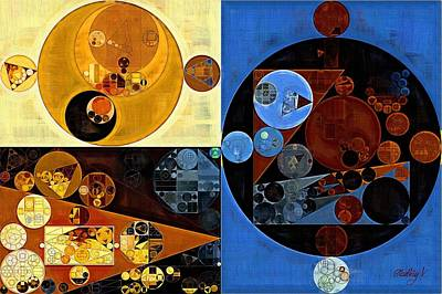 Abstract Painting - Equator Poster by Vitaliy Gladkiy