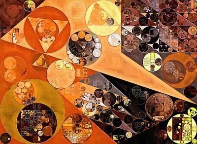 Abstract Painting - Fiery Orange Poster by Vitaliy Gladkiy