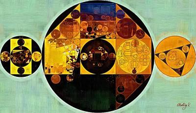 Abstract Painting - Gamboge Poster by Vitaliy Gladkiy