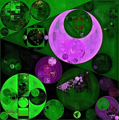 Abstract Painting - Islamic Green Poster