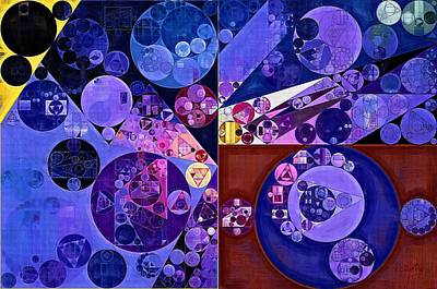 Abstract Painting - Midnight Blue Poster by Vitaliy Gladkiy