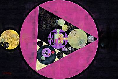 Abstract Painting - Mulberry Poster