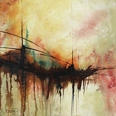 Abstract Painting Contemporary Art Poster by Patricia Lintner