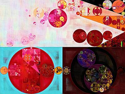 Abstract Painting - Persian Plum Poster