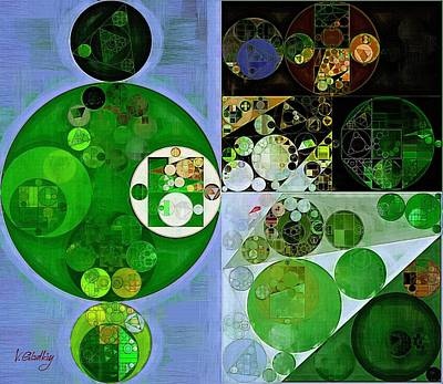 Abstract Painting - Phthalo Green Poster