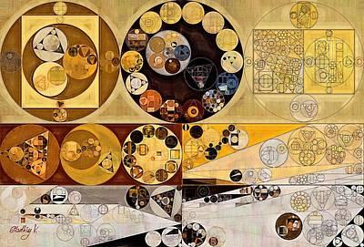 Abstract Painting - Raffia Poster by Vitaliy Gladkiy