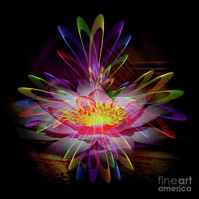 Abstract Perfection - Water Lily Poster by Walter Zettl