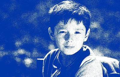 Abstract Portrait Of A Boy 2 Poster by Celestial Images