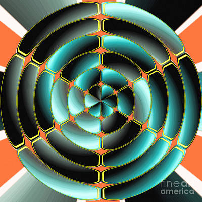 Abstract Radial Object Poster