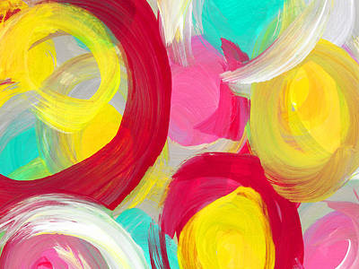 Abstract Rose Garden In The Morning Light 1 Poster by Amy Vangsgard
