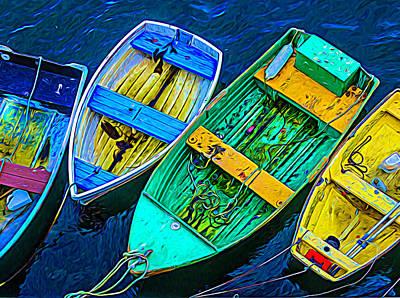 Abstract Rowboats Poster