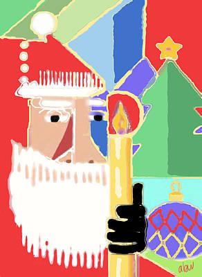 Abstract Santa Poster