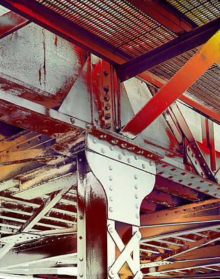 Poster featuring the photograph Grunge Steel Beam by Robert G Kernodle
