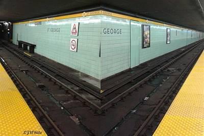 Abstract Subway 2 Way Tracks Poster