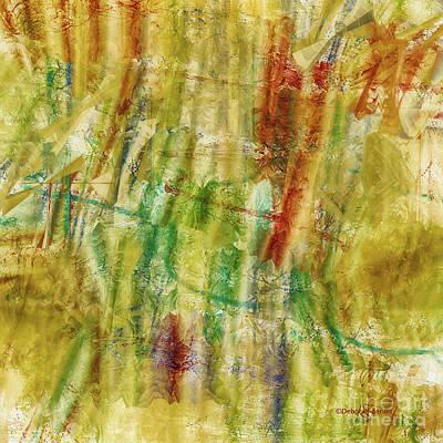 Poster featuring the digital art Abstract Sunday by Deborah Benoit