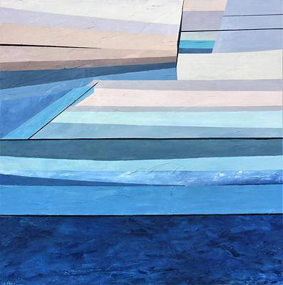Abstract Swimming Pool Poster