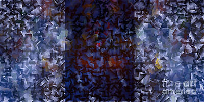 Blue Panorama - Abstract Tiles No15.1227 Poster by Jason Freedman
