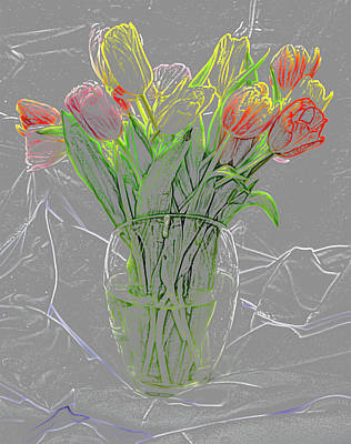 Abstract - Tulips Poster by Greg Thiemeyer