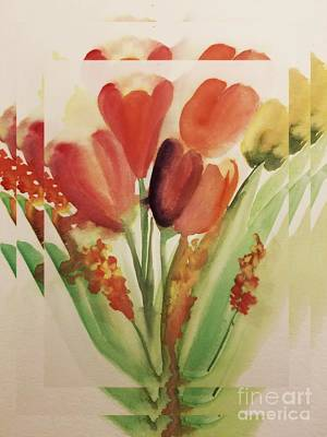 Abstract Tulips Poster by Maria Urso