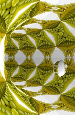Abstract Tunnel Of Yellow Grapes  Poster