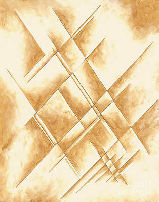 Abstract Unique Original Painting Contemporary Art Champagne Dreams II By Madart Poster