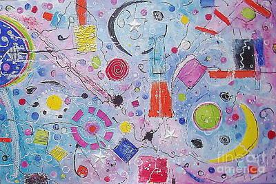 Abstract Universum 2 Poster by Anita Dielen