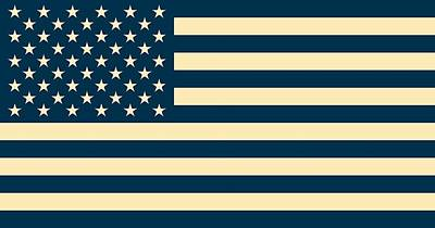 Abstract Usa Flag Poster by Celestial Images