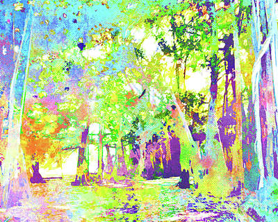 Abstract Watercolor - Banyan Forest II Poster