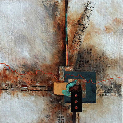 Poster featuring the painting Abstract With Stud Edge by Joanne Smoley