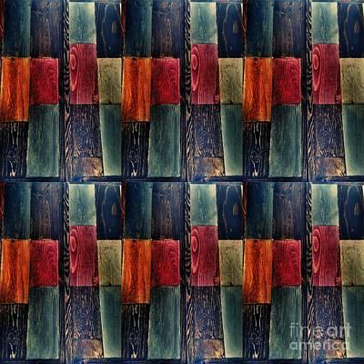 Abstract Woodgrain Artwork  Poster by Scott D Van Osdol