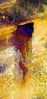 Abstract Yellow Purple Complementary Colors Textured Wall 2a Poster by Sue Jacobi