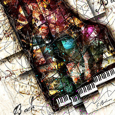 Abstracta_19 Concerto II Poster by Gary Bodnar
