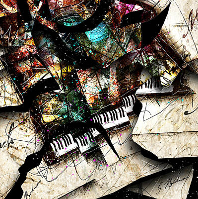 Abstracta_22 Concerto 3 Poster by Gary Bodnar