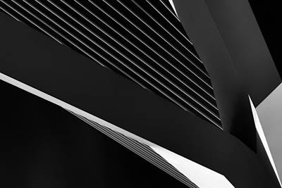 Abstraction Of A Swan Poster by Jeroen Van De Wiel