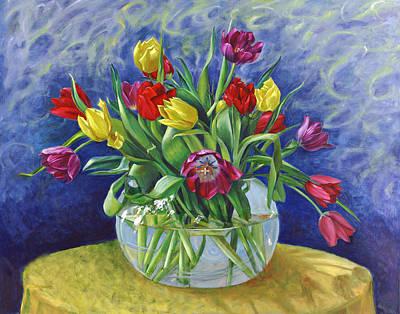 Abundant Tulips Poster