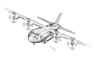 Ac-130 Poster by Dennis Bivens