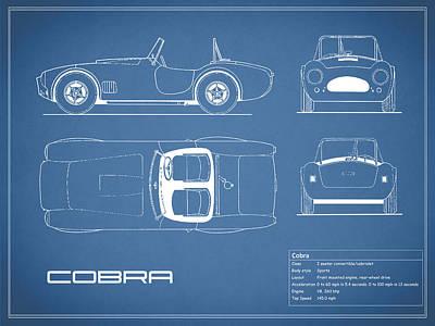 Ac Cobra Blueprint Poster