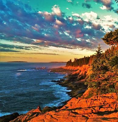 Acadia At Dawn Poster