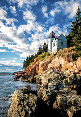 Poster featuring the painting Acadia Bass Harbor Lighthouse by Christopher Arndt