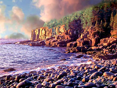 Acadia National Park Poster by Bob and Nadine Johnston