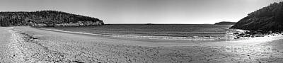 Acadia Sand Beach Panorama Poster by Olivier Le Queinec