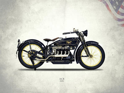 Ace Motorcycle 1920 Poster by Mark Rogan