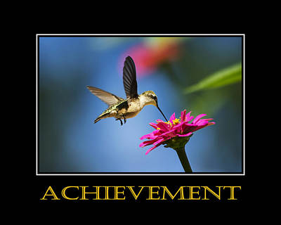 Achievement  Inspirational Motivational Poster Art Poster by Christina Rollo