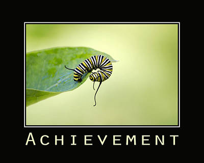 Achievement Inspirational Poster Poster by Christina Rollo
