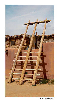 Acoma Ladder Poster by R Thomas Berner
