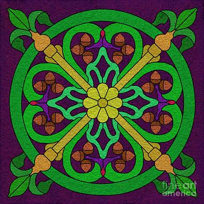 Acorn On Dark Purple 2 Poster