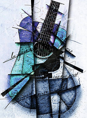 Acoustic Alchemy In Blue Poster