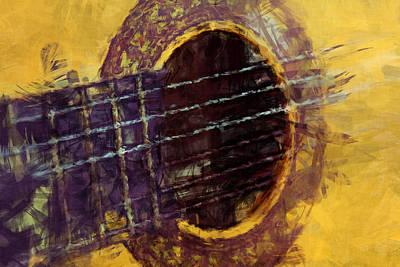 Acoustic Guitar Poster by David G Paul