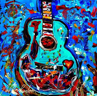 Acoustic Love Guitar Poster